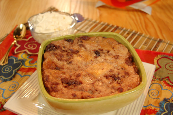 Bread Pudding with Chantilly Cream