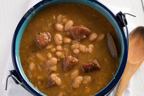 White Beans with Andouille Sausage