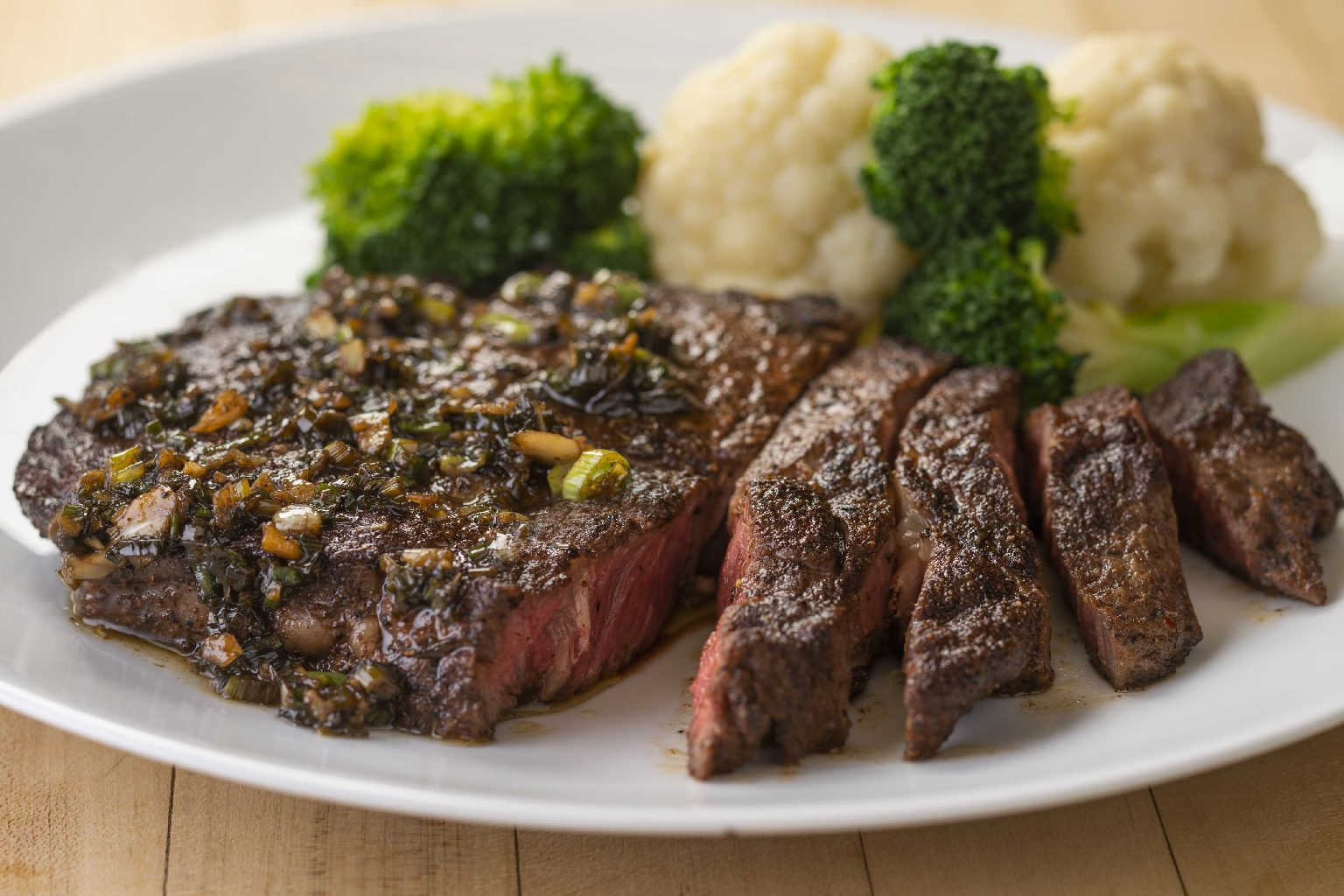 Jerk Ribeye with Brown Butter Sauce
