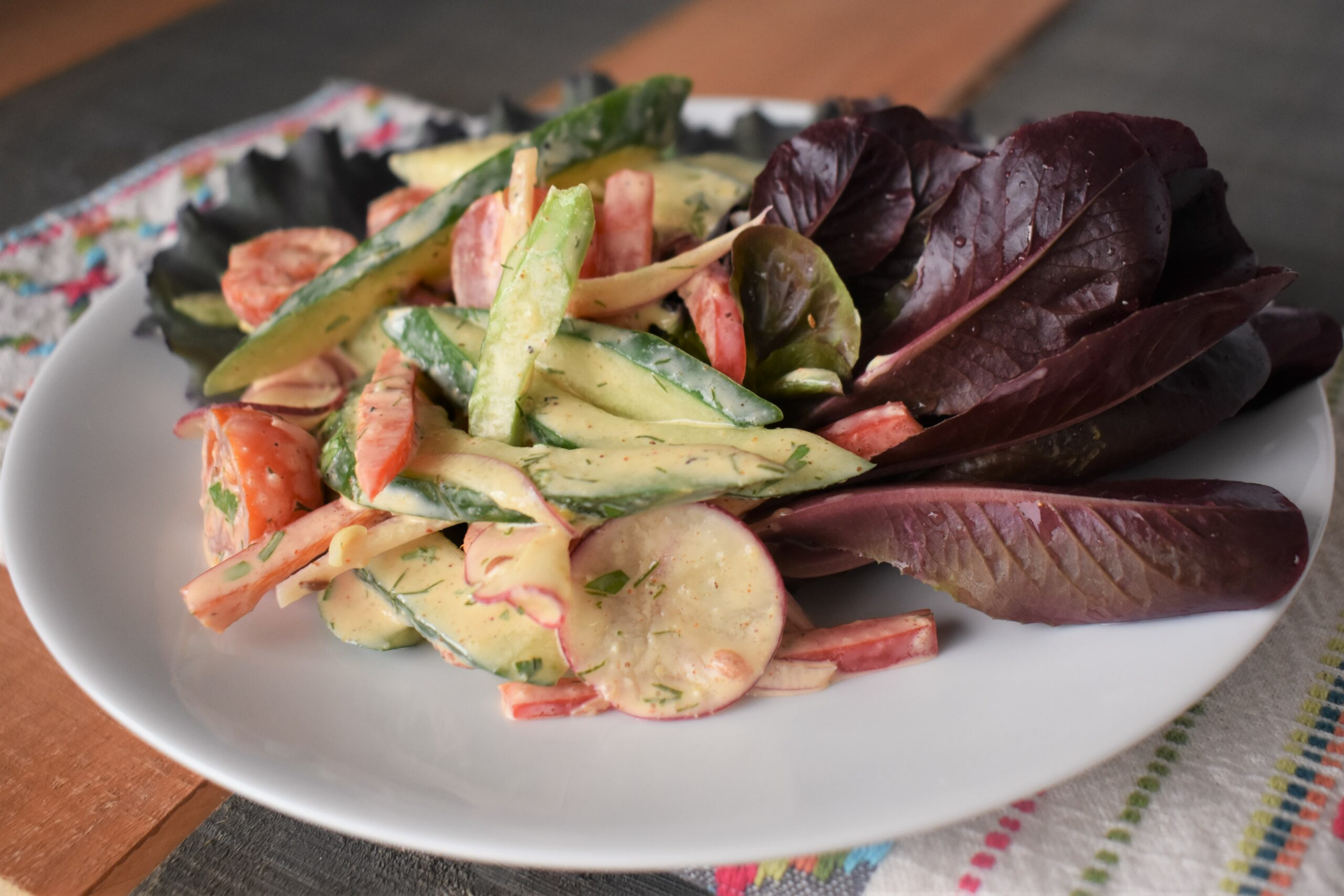 Cucumber Salad with Lemon Dill Dressing