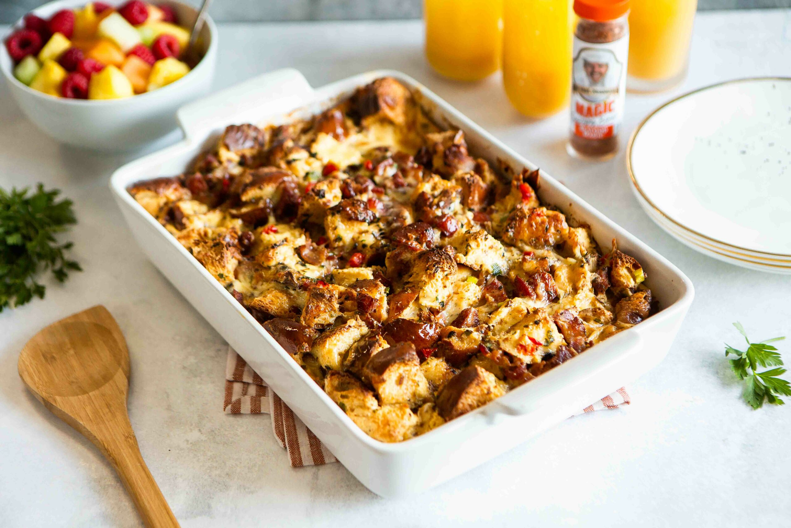 Magic Breakfast Strata