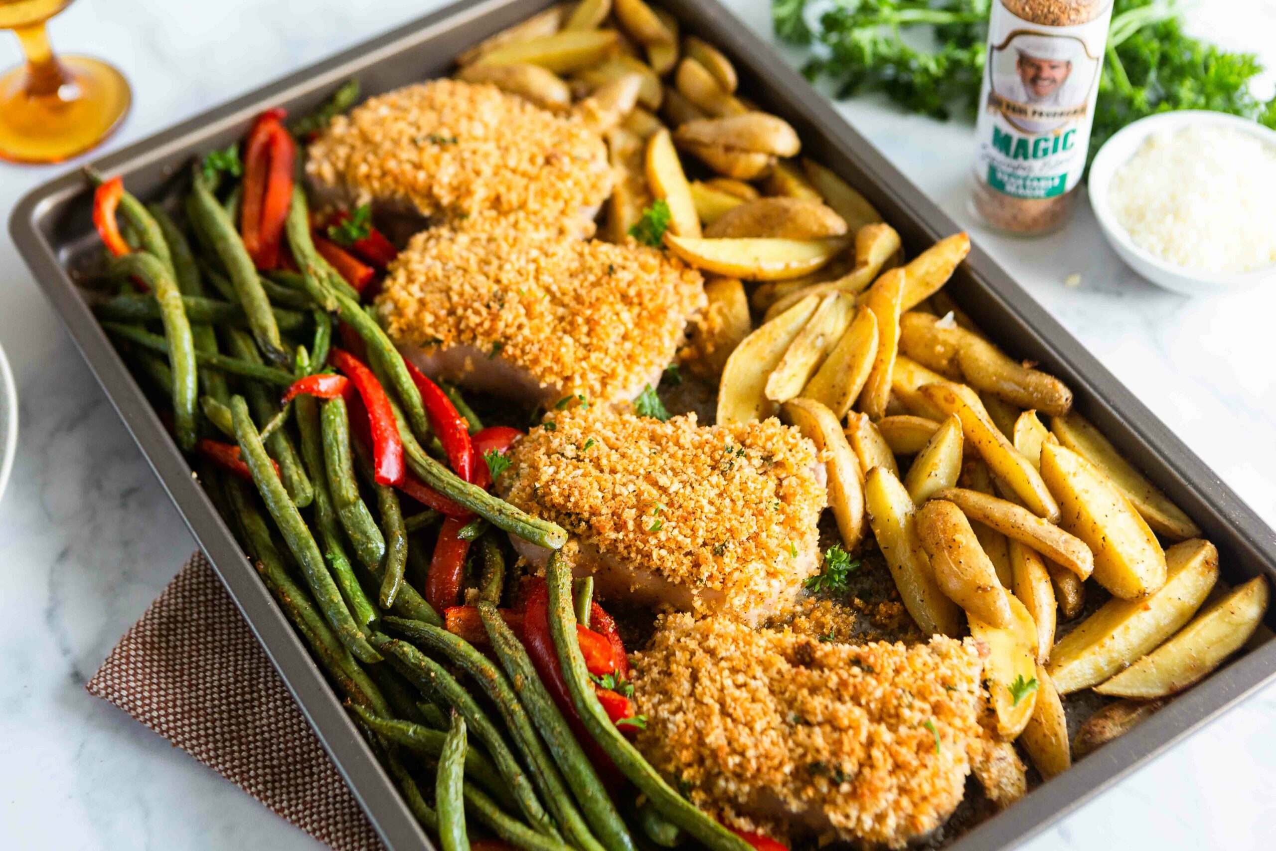 Sheet Pan Parmesan Pork Chops