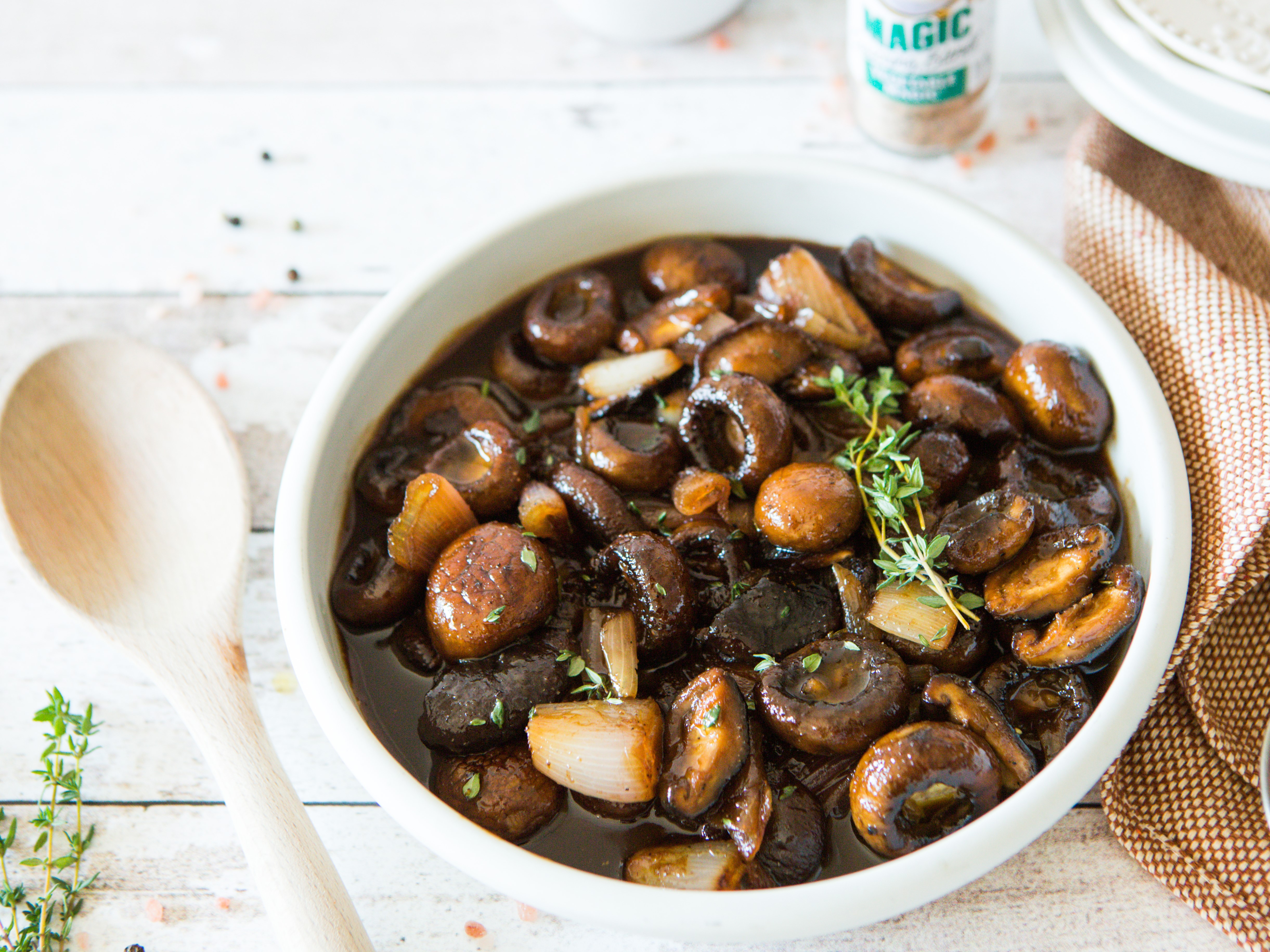 Balsamic Mushrooms with Shallots & Thyme