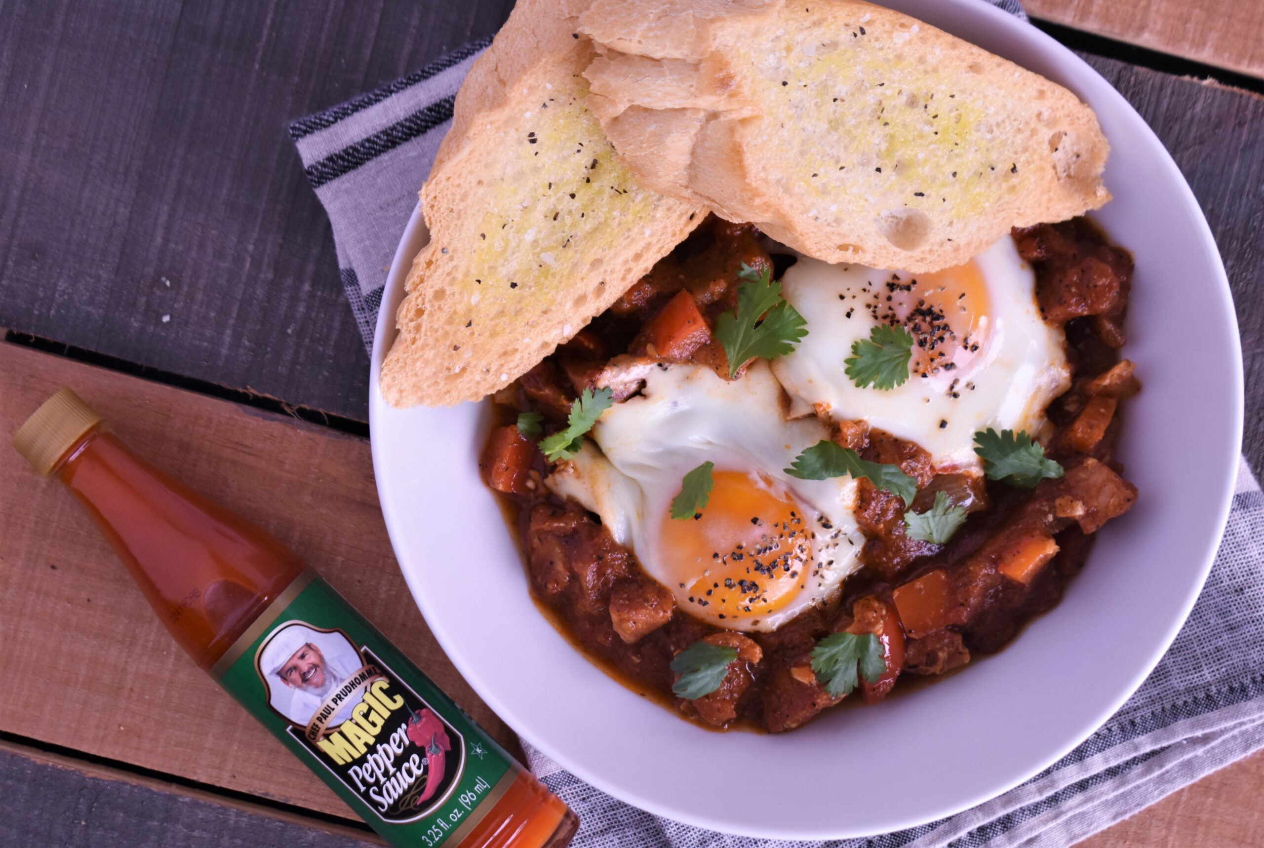 Shakshuka with Andouille Smoked Sausage
