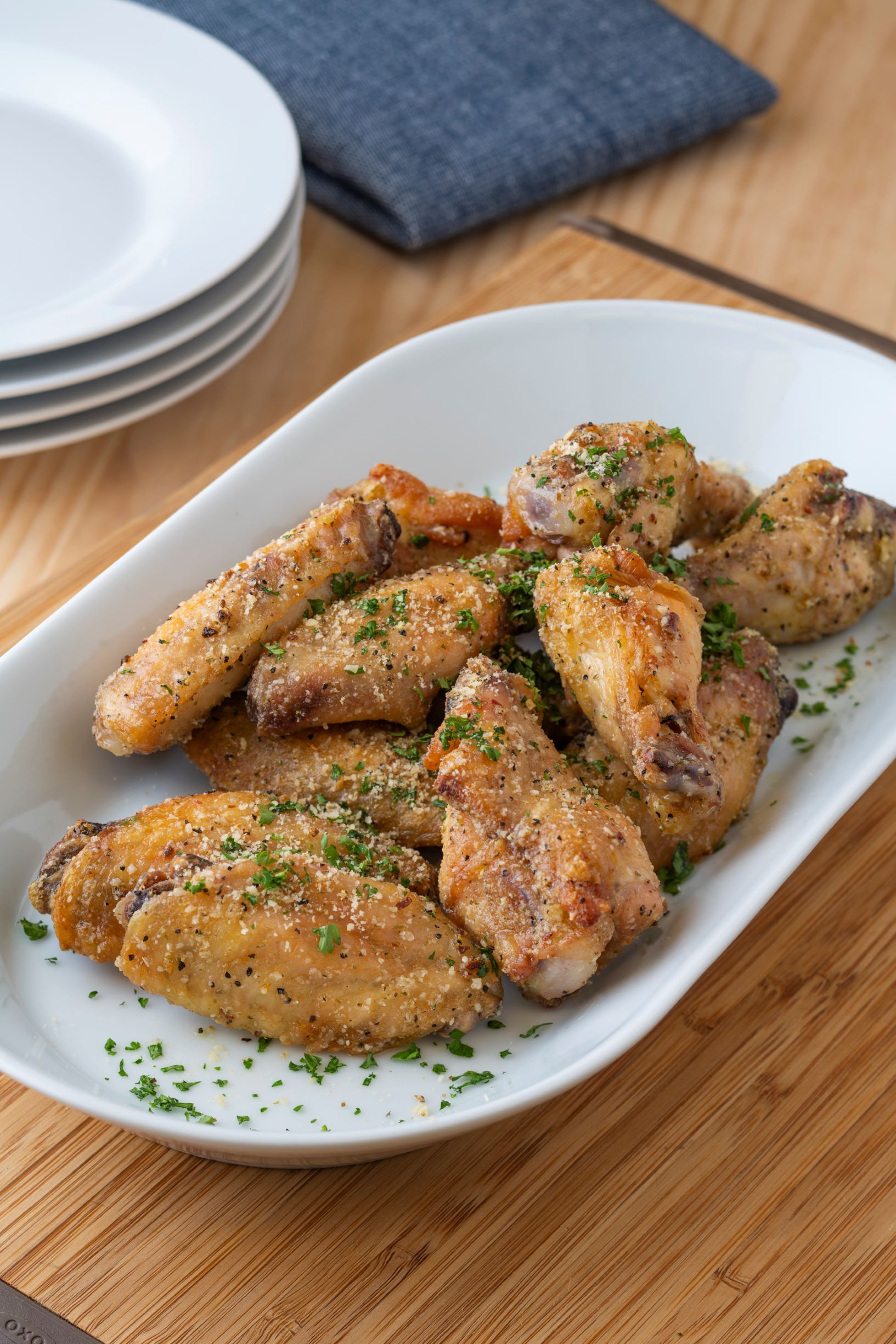 Lemon Pepper Parmesan Wings